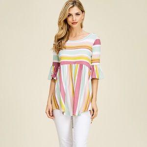 Tops - Mint striped shirt